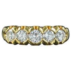 Antique Edwardian Five Stone Diamond Ring 1.20ct Of Diamond Circa 1915