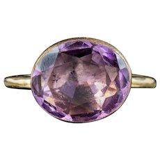 Antique Georgian Purple Paste Ring Circa 1800
