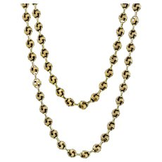 Vintage Love Knot Guard Chain 9ct Gold Dated 1977