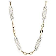 Antique Victorian Chain Necklace 15ct Gold Circa 1900