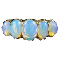 Antique Victorian Natural Opal Ring 5ct Of Opal Circa 1880