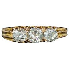 Antique Victorian Diamond Trilogy Ring 0.70ct Of Diamond Circa 1880
