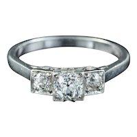 Art Deco Diamond Trilogy Ring 0.75ct Of Diamond Circa 1920