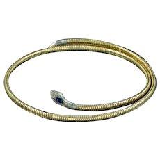 Art Deco Snake Bangle 9ct Rolled Gold Circa 1930