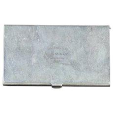Vintage Tiffany & Co. New York Sterling Silver Card Case Circa 1960