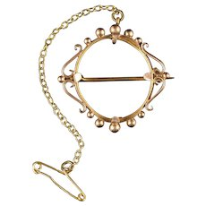 Picture Frame Brooch 9ct Gold