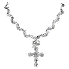 Victorian Suffragette Collar And Detachable Cross Pendant Circa 1880