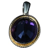 Victorian Amethyst Gold Pendant - 18ct Gold