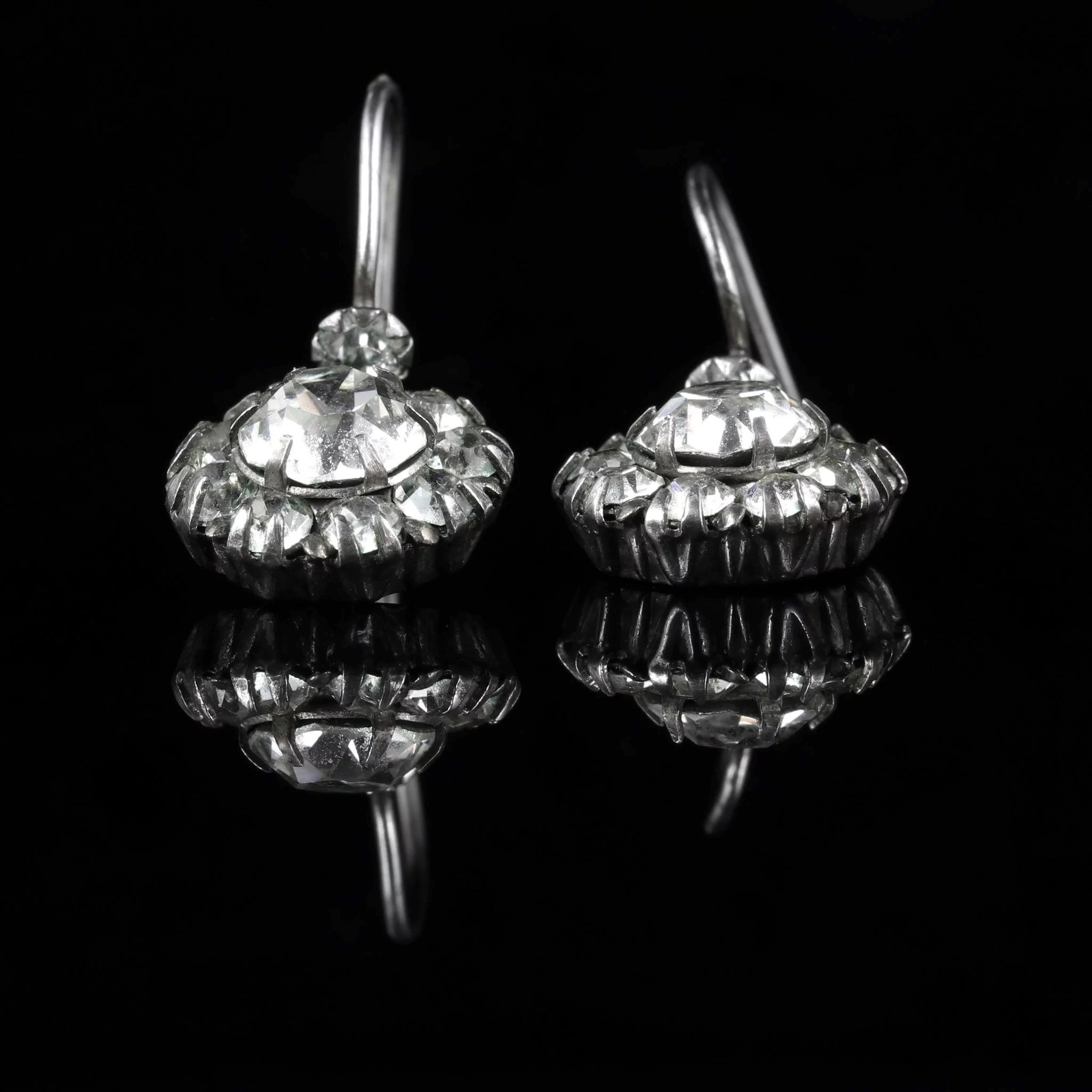 victoria products victorian earrings silver antique horseshoe sterling