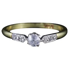 Antique Edwardian Diamond Ring 18ct Gold Engagement Ring Circa 1915