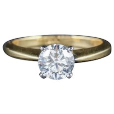 Diamond Solitaire Ring 18ct Gold Engagement Ring