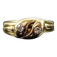 Antique Victorian Diamond Snake Ring - Fabulous Serpent Ring - Circa 1890