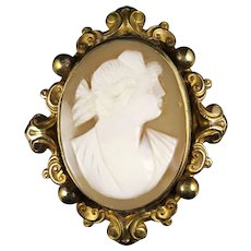 Antique Victorian Cameo Brooch