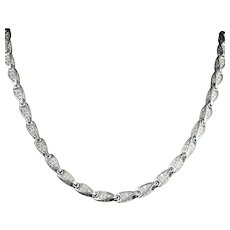 Antique Victorian Sterling Silver Necklace Circa 1880 Paste Necklace