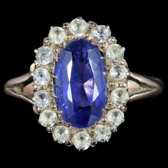 Antique Victorian Sapphire Ring 9ct Gold Circa 1880