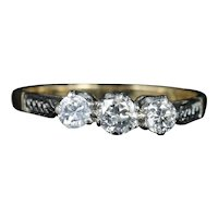 Antique Edwardian Diamond Trilogy Engagement RingCirca 1915