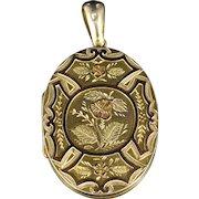 Antique Victorian Gold Silver Locket Circa 1880