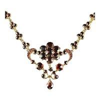 Antique Victorian Garnet Necklace Circa 1880