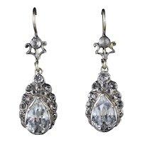Victorian Paste Earrings Silver Gold