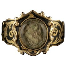 Antique Georgian Mourning Ring 18ct Gold Circa 1800