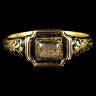 Antique Georgian Mourning Ring 18ct Circa 1790