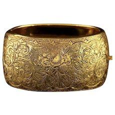 Antique Victorian Gold Silver Bangle Circa 1900