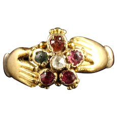Georgian Fede Ring Spells Regard Childs Ring 18ct Gold Circa 1780
