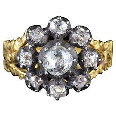 Antique Georgian 18ct Gold Diamond Cluster Ring Circa 1780