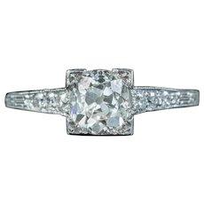 Art Deco Diamond Solitaire Engagement Ring 1ct Of Diamond Circa 1920