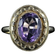 Antique Victorian Amethyst Ring Etruscan Revival