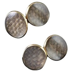Antique Georgian Gold Mourning Cufflinks