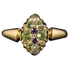 Antique Victorian Suffragette Ring 18ct Gold Circa 1900