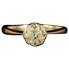 Antique Victorian Diamond Cluster Ring Engagement Ring Circa 1880