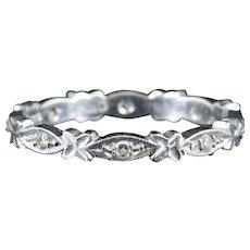 Antique Edwardian Diamond Eternity Ring 18ct White Gold Circa 1915