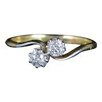 Antique Edwardian Diamond Twist Ring 18ct Platinum Circa 1910