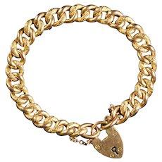 Antique Victorian Fancy Link Bracelet 9ct Circa 1880