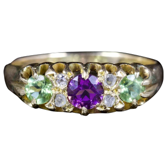 Antique Edwardian Suffragette Ring 18ct Dated Birmingham 1918