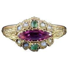 Antique Victorian Suffragette Ring 15ct Gold Circa 1900