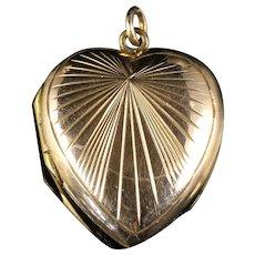 Antique Victorian Heart Locket 9ct Gold Circa 1900