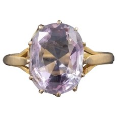 Antique Victorian Purple Spinel Ring 18ct Gold 5ct Spinel Circa 1900