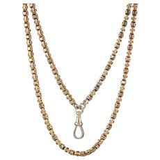 Art Deco Solid 18ct Gold Guard Chain 58 Grams Circa 1920