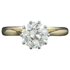 Antique Victorian Diamond Engagement Ring 18ct Gold Circa 1900