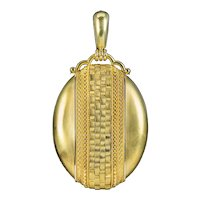 Antique Victorian Locket 15ct Gold Circa 1880