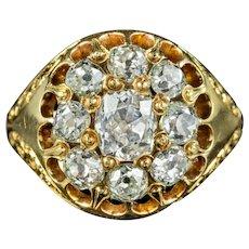 Antique Victorian Diamond Cluster Ring 1.60ct Of Diamond Circa 1880 Boxed