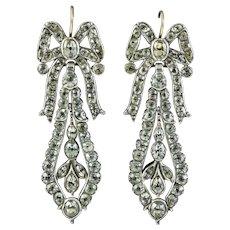 Diamond Flower Stud Earrings 18ct Gold 4.55ct Of Diamond
