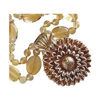 Custom Order - Fine Silver Sunflower Pendant only