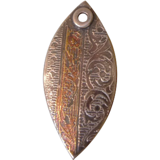 Keum-Boo Shield - 24k Gold and Fine Silver Shield Pendant