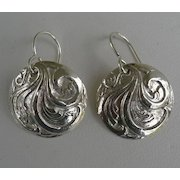 Fine Silver Scroll Earrings - Handcrafted PMC .999