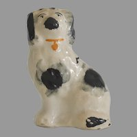 Antique Staffordshire Spaniel in Grey and Black