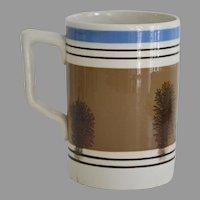 Antique Mocha Mochaware Mug Pint Size